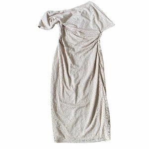 NWT Asos Crochet Lace Full Length Dress Size 10